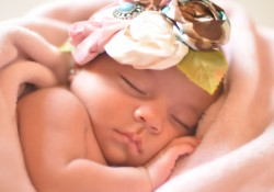 flower baby sleeping