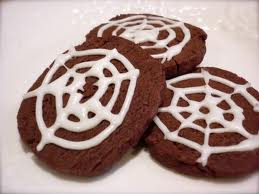 chocolate spider web cookies