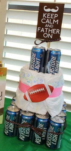 dad diaper beer cake