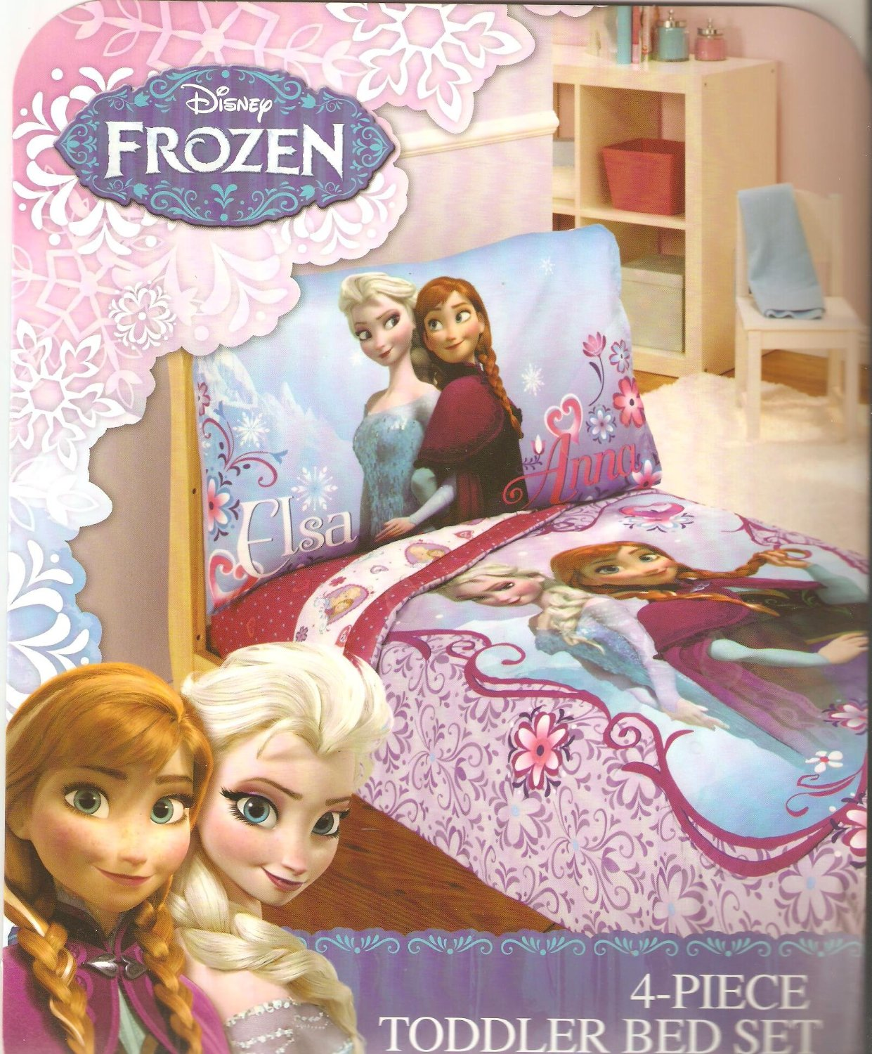 Disney Frozen 4Pc Toddler Bedding Frozen Toddler Bedding Set