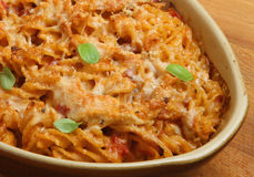 baked fusilli and squash